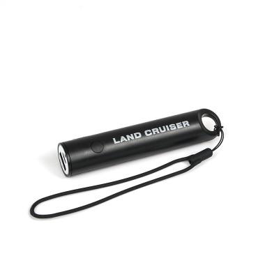 Batterie portable avec lumière 2200 mAh, noire