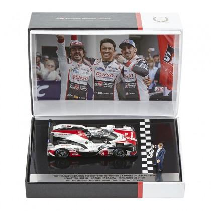 Modèle réduit TOYOTA HYBRID TS050 n ° 8 victorieuse aux 24h du Mans 2018 - édition limitée