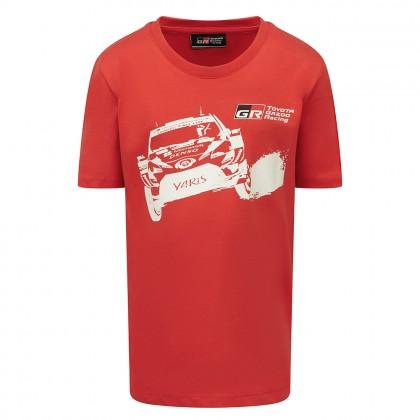 T-shirt avec voiture TOYOTA GAZOO Racing pour enfant